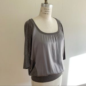 Heather - mixed fabric top